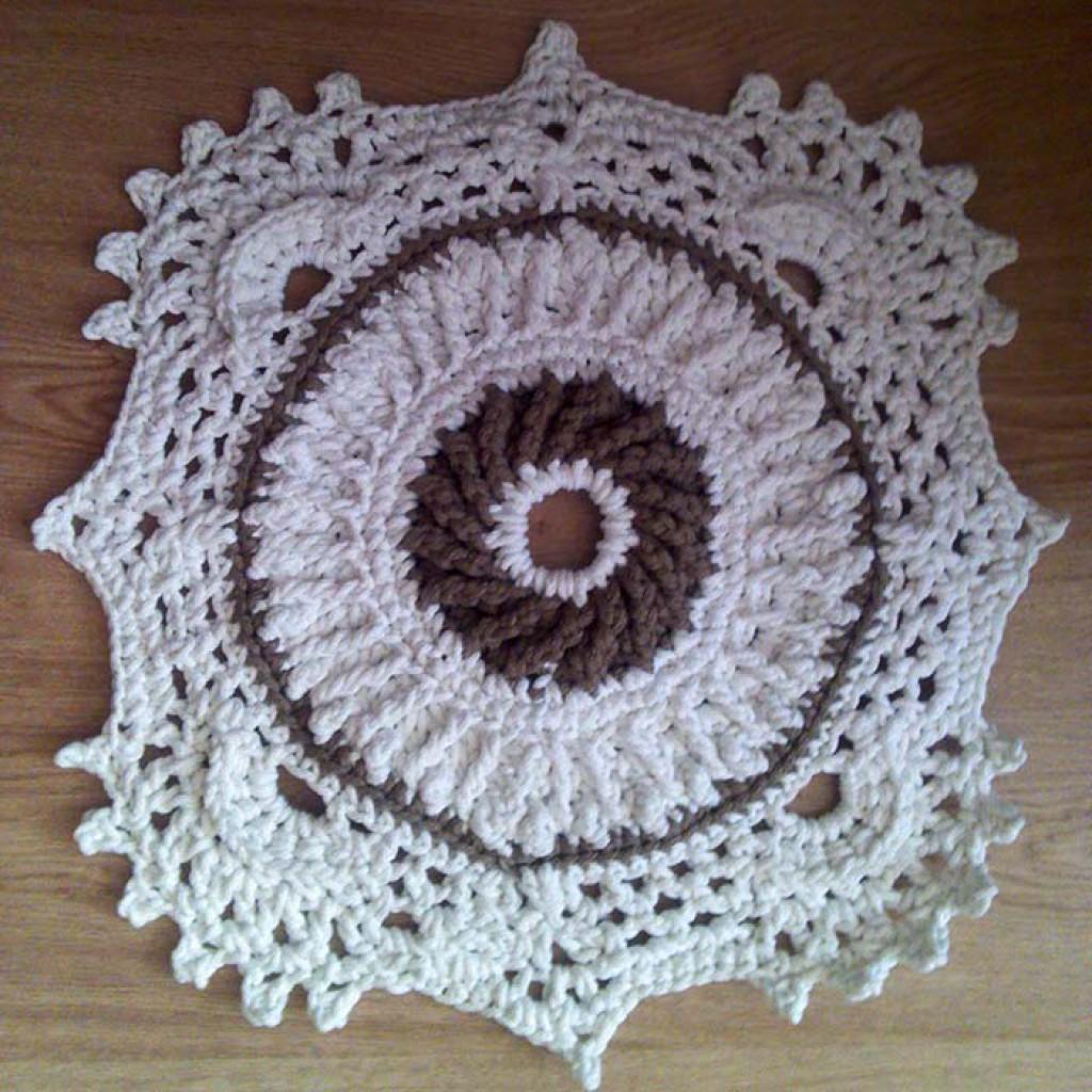 Рельефные ковры вязание крючком 11