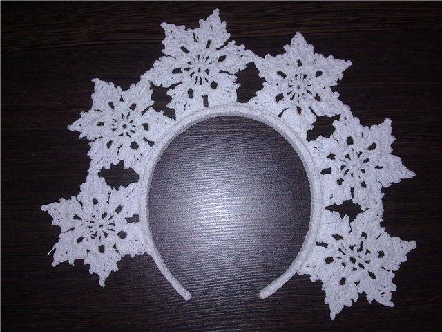 корона из снежинок